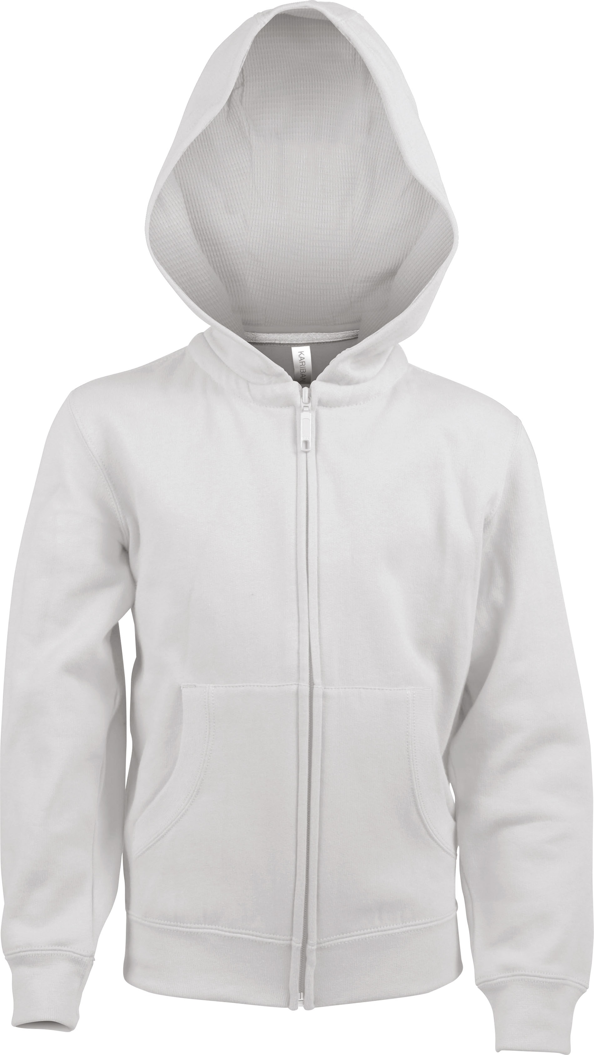 SWEAT SHIRT CAPUCHE ZIPPÉ ENFANT White Gladiasport
