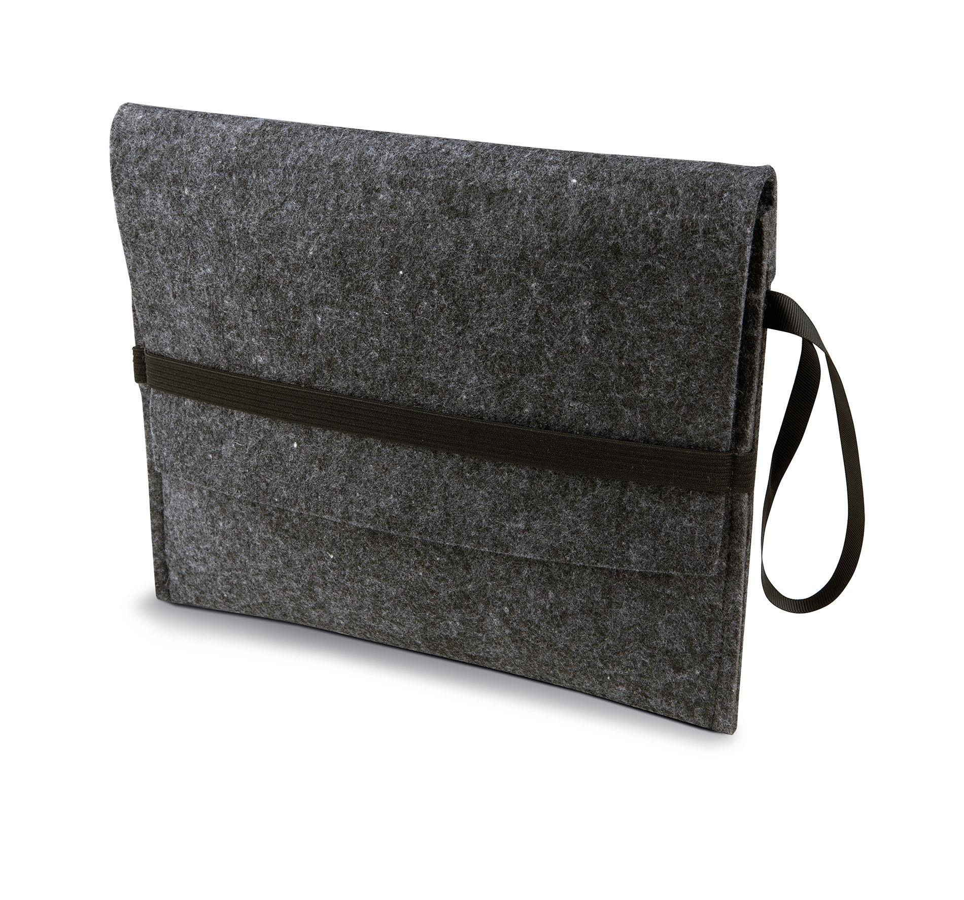housse tablette en feutre avec rabat dark grey gladiasport. Black Bedroom Furniture Sets. Home Design Ideas