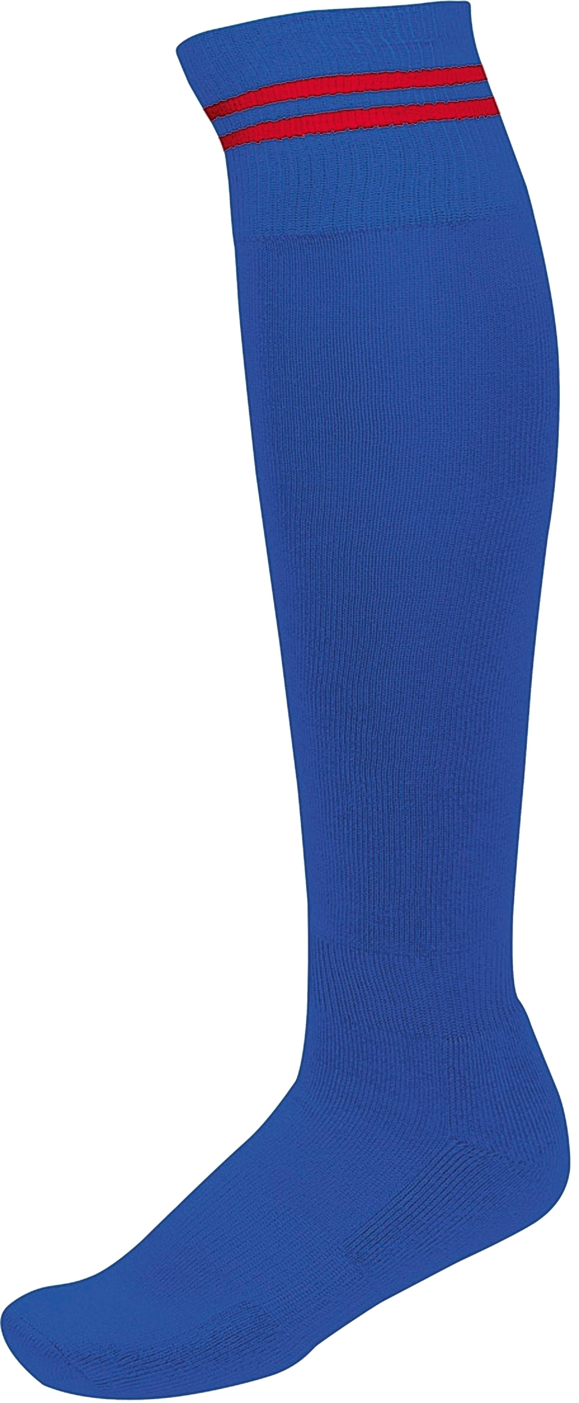CHAUSSETTES DE SPORT RAYÉES Dark Royal Blue / Sporty Red Bleu