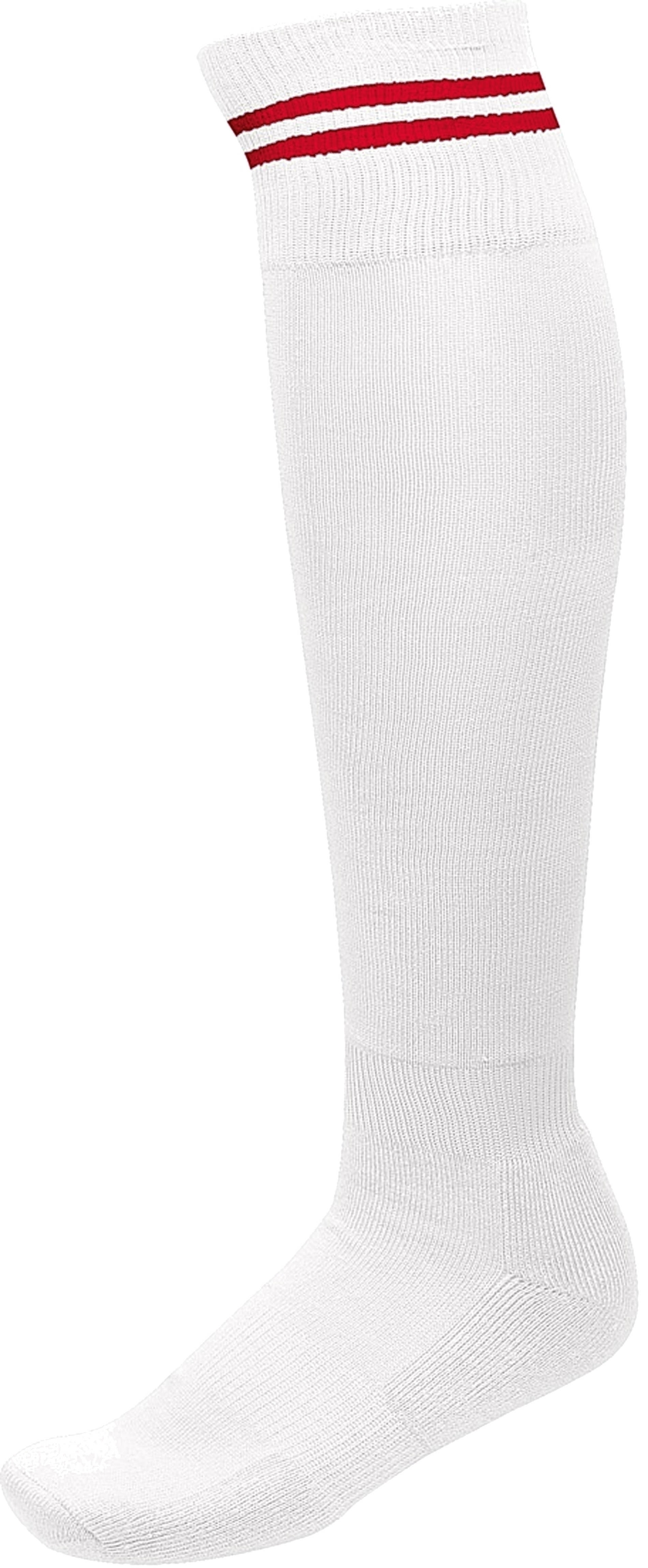 CHAUSSETTES DE SPORT RAYÉES White / Sporty Red Blanc