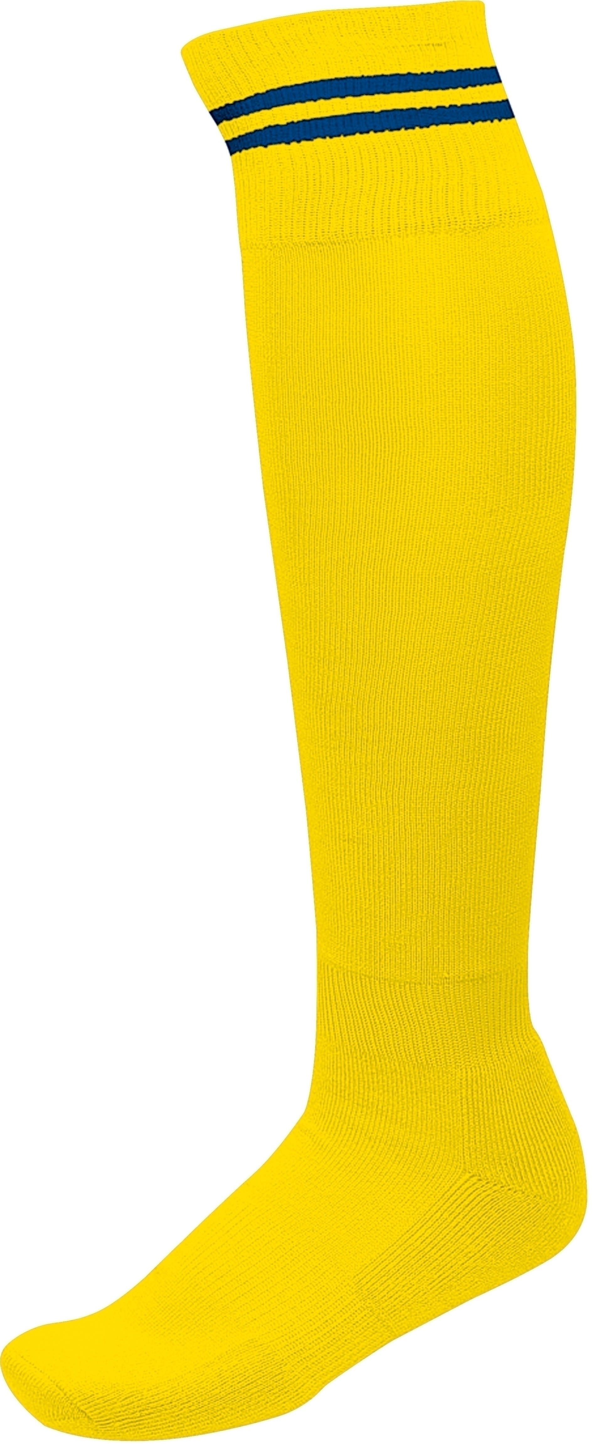 CHAUSSETTES DE SPORT RAYÉES Sporty Yellow / Dark Royal Blue Jaune