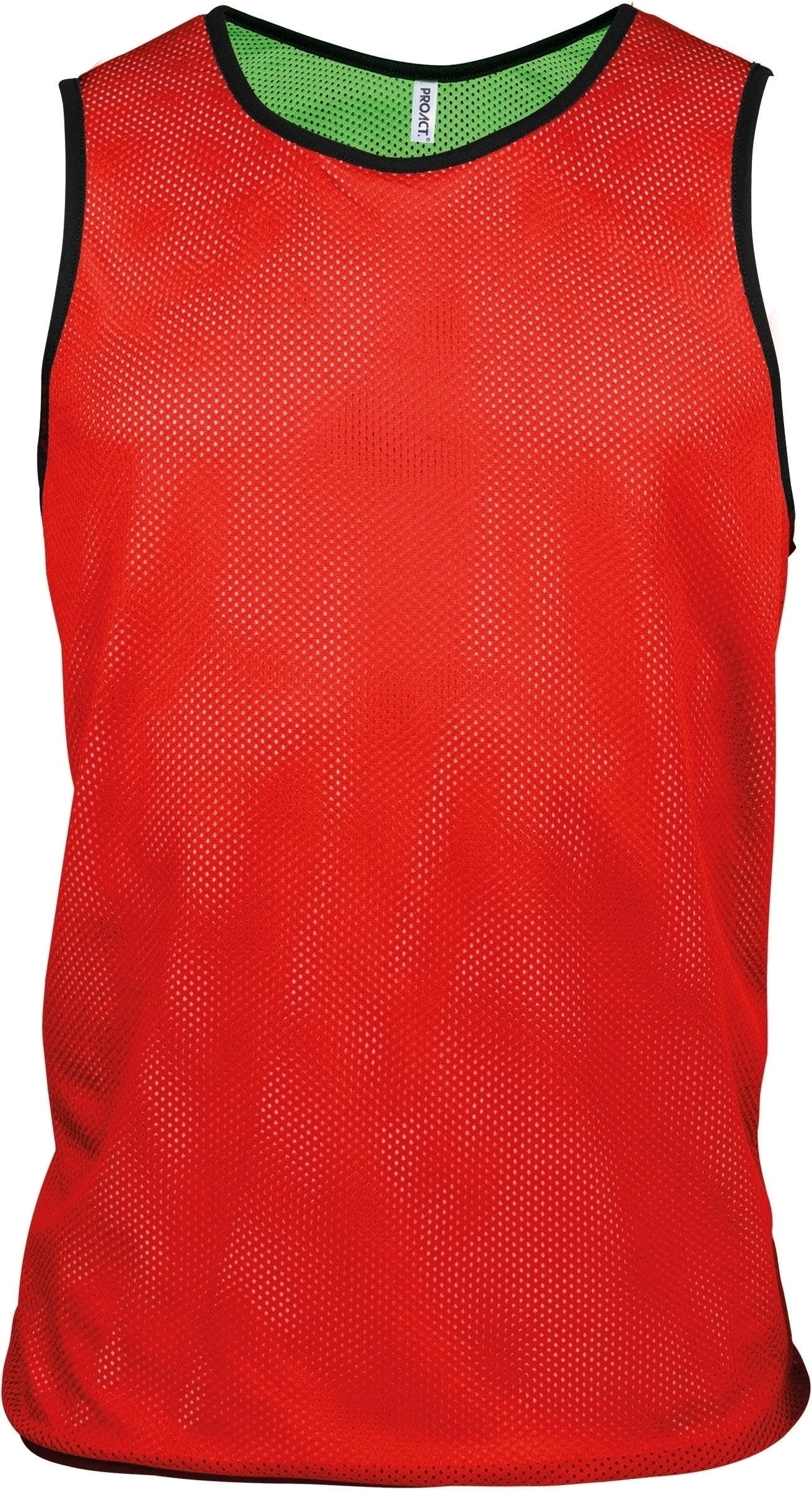CHASUBLE RÉVERSIBLE MULTISPORTS ADULTE ET ENFANT Sporty Red / Fluorescent Green Rouge