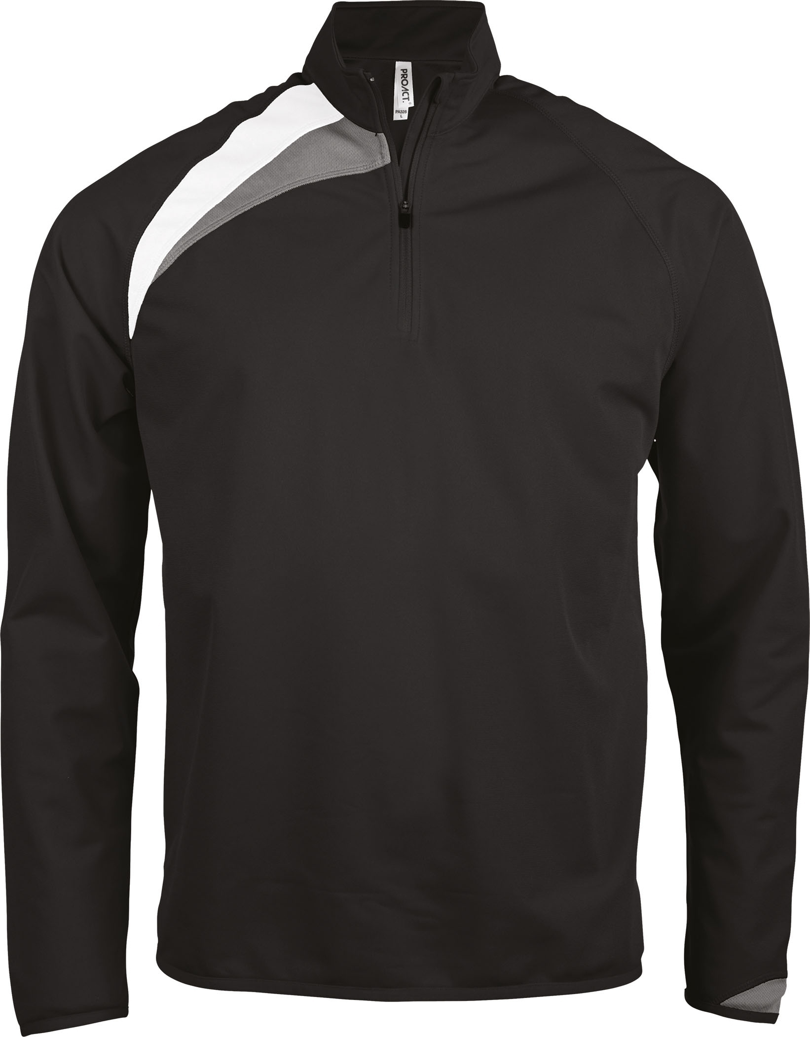 SWEAT DENTRAÎNEMENT 1/4 ZIP UNISEXE Black / White / Storm Grey Noir