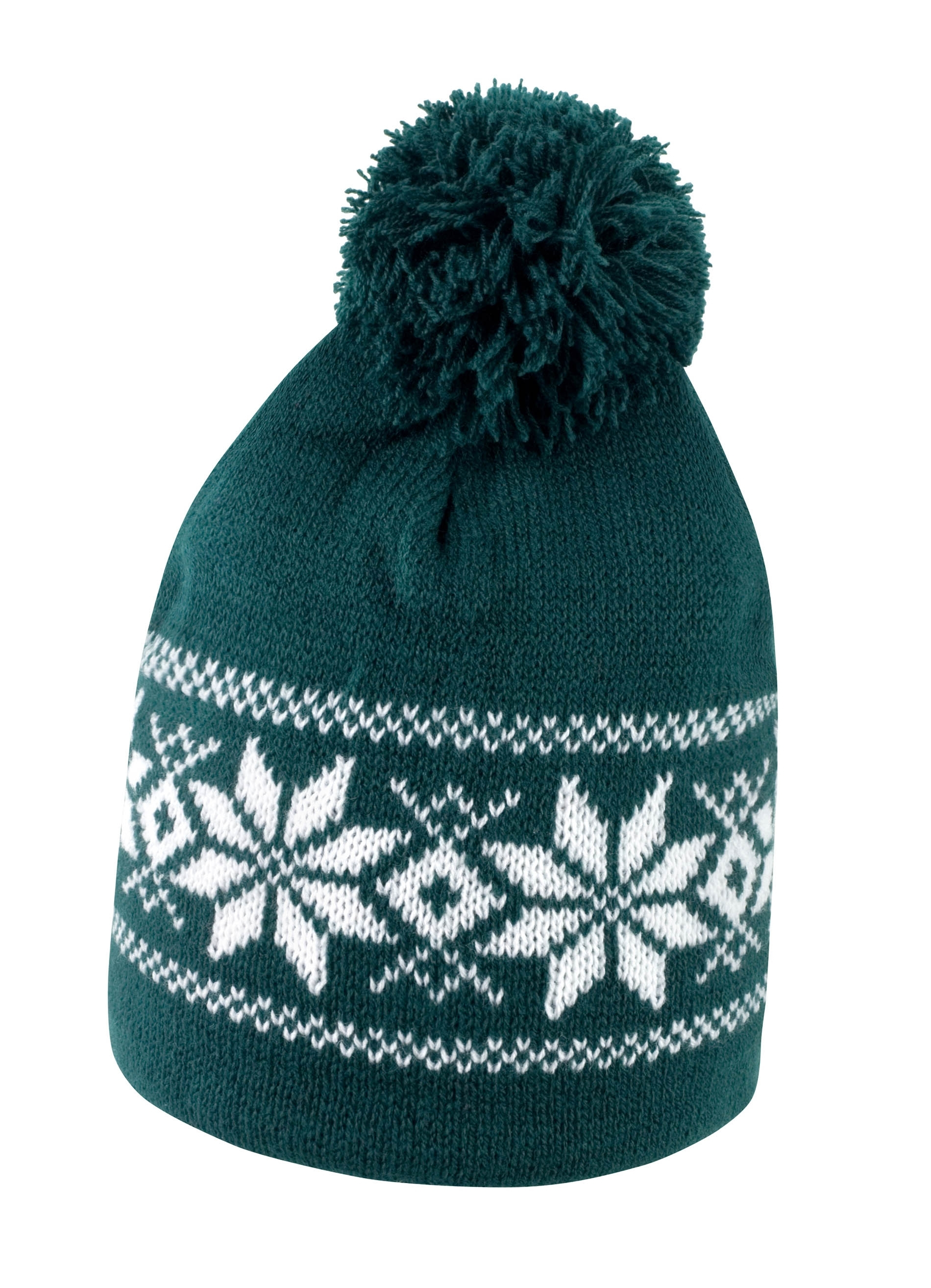 BONNET FAIR ISLES Artic Green / White Vert