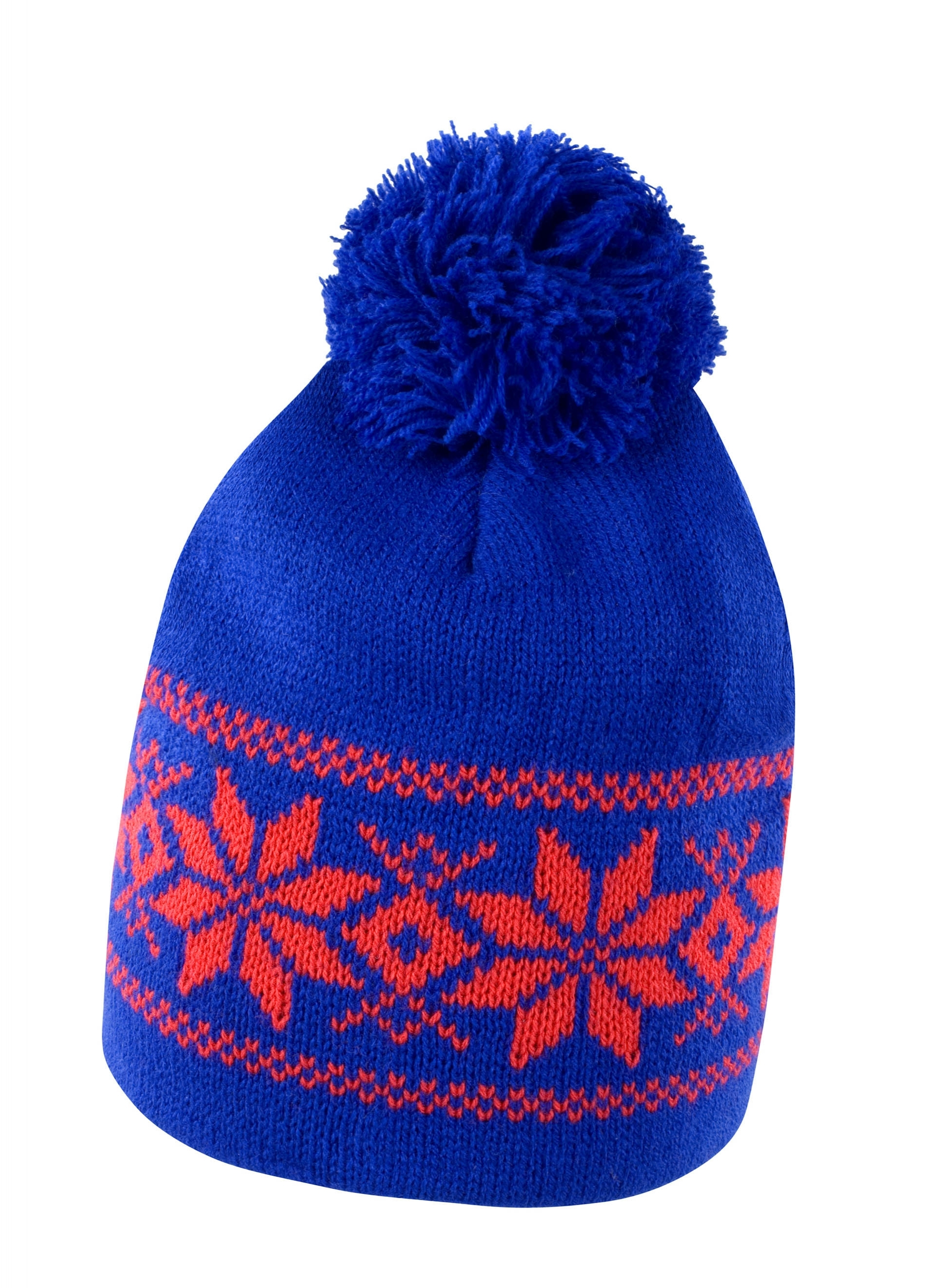 BONNET FAIR ISLES Royal Blue / Red Bleu